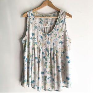 ✨Sale✨ LC Lauren Conrad Floral Pleated Blouse